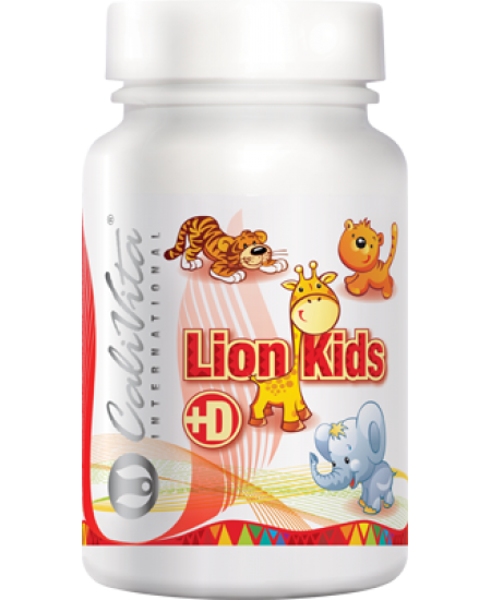 Lion Kids Punch with Vitamin D-90 tablete masticabile