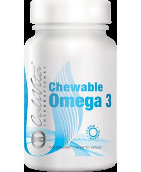 Chewable Omega 3 Concentrate Lemon Calivita-100 capsule gelatinoase(cu aroma de lamaie)